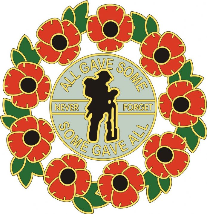 Poppy Car Sticker With Soldier and Wreath